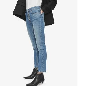Anine Bing Frida Button Fly Skinny Jeans Size 32